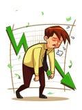 Bekymrad affärsman Stock Illustrationer
