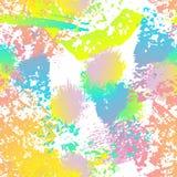 Bekymrad färgstänk Vattenfärgen texturerar yttersida royaltyfri illustrationer