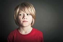 Bekymrad pojke Arkivbilder