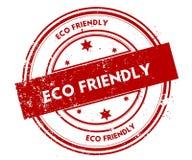 Bekymrad röd stämpel för ECO-VÄNSKAPSMATCH royaltyfri illustrationer