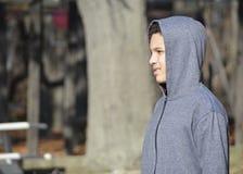 Bekymrad tonårig pojke Fotografering för Bildbyråer