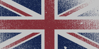 Bekymrad UK-flagga Royaltyfria Foton