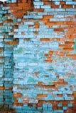 bekymrad vägg för tegelsten Arkivbild