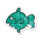 bekymrat klisterm?rketecknad filmklotter av en marin- fisk vektor illustrationer