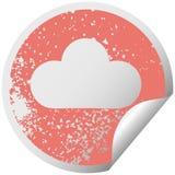 bekymrat runt skalande moln f?r klisterm?rkesymbolregn royaltyfri illustrationer
