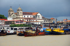 Belém, old boats on the river - Brazil Royalty Free Stock Photography