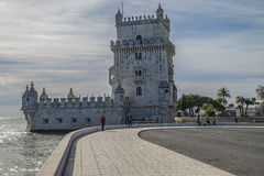 Belém Tower (Torre de Belém) Tower of Saint Vincent Royalty Free Stock Photo