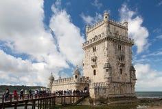Belémtoren, Lissabon, Portugal Royalty-vrije Stock Foto's