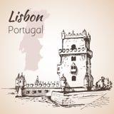 Belém塔或圣文森特塔  里斯本 葡萄牙 皇族释放例证