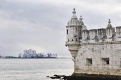 Belém Góruje Torre De belém budujący Francisco De Arruda, Lisbo Zdjęcie Royalty Free