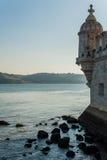 Belémtoren bij hoogtijd stock fotografie