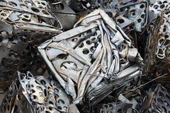 Belägga med metall återvinning arkivfoto