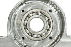 Belägga med metall den monterad drejbänken och borrande för malning för CNC för enheten för rulllager Arkivfoton