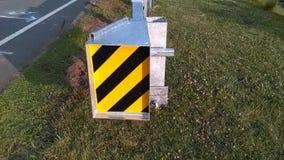 """Belägga med metall den skyddande barriären på den nyligen konstruerade lilla bron 2-C-504 NJ USA Ð """", Arkivfoton"""