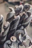 Belägga med metall drillborrbitar för borra och malningbransch Royaltyfria Bilder