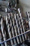 Belägga med metall drillborrbitar för borra och malningbransch Royaltyfri Foto