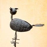 Belägga med metall fågeln royaltyfri bild
