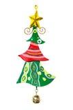 Belägga med metall garnering för julträdet som isoleras på vit bakgrund Royaltyfri Foto