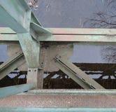 Belägga med metall konstruktion arkivfoton