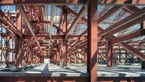 Belägga med metall konstruktion Fotografering för Bildbyråer