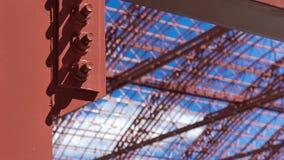 Belägga med metall konstruktion Arkivbilder