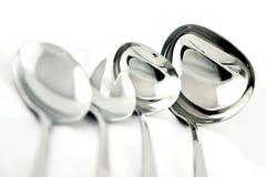 Belägga med metall ladles. Royaltyfri Fotografi