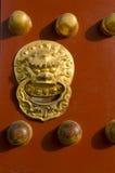 Belägga med metall portdörren av templet av Peking Kina för byggnader för den himmelTiantan Daoist templet den eligious Arkivfoton