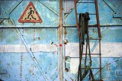 Belägga med metall rostbakgrund, belägga med metall rosttextur, rosta, förfalla metallBac Fotografering för Bildbyråer