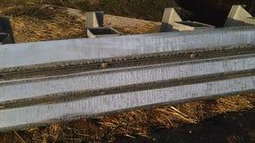 """Belägga med metall skyddande barriärer på den nyligen konstruerade lilla bron 2-C-504 NJ USA Ð """", Royaltyfria Bilder"""