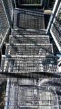 Belägga med metall trappa arkivbilder