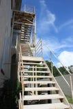 Belägga med metall trappa Royaltyfri Foto