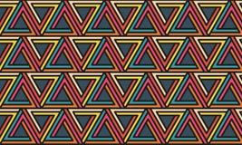 Belägga med tegel för triangelmodell stock illustrationer