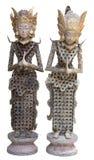 Belägger med metall den indonesiska dockan för indonesiska dockor som göras från, myntar Royaltyfria Bilder