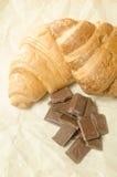 Belägger med tegel choklad med två giffel Royaltyfria Foton