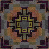 Belägger med tegel mosaiken frambragd sömlös textur Royaltyfria Bilder