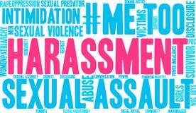 Belästigungs-Wort-Wolke stock abbildung