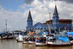 Belém, bateaux sur le fleuve - Brésil Images libres de droits