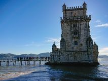 Belem Tower in Lisbon, Portugal. Main tower royalty free stock image