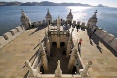 Belém Kontrollturm, Lissabon lizenzfreie stockbilder