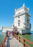 Belém Tower in Lisbon, Portugal royalty free stock images