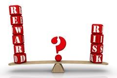 Belöning eller risk choice problem stock illustrationer