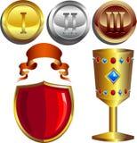 belöningar royaltyfri illustrationer