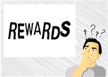 Belöningar för ordhandstiltext Affärsidé för givet i erkännande av den tjänste- gåvan för försöksprestationpris vektor illustrationer