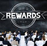 Belöningar värderar högt begrepp för fördeltrofébudget Arkivbilder