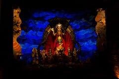 Bel éclairage de pandel de Durga Photographie stock