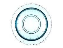 Bel élément décoratif en verre d'isolement sur un backgroun blanc Photographie stock libre de droits