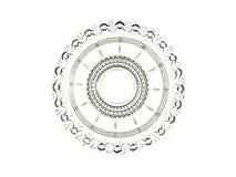 Bel élément décoratif en verre d'isolement sur un backgroun blanc Image stock