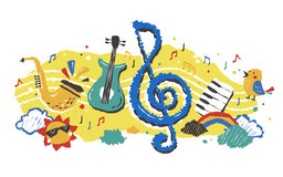 Bel élément musical illustration stock
