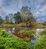 bel été de fleuve de nature d'image Image stock