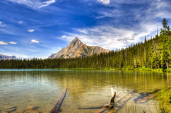 Bel été de montagne augmentant des vues Photo libre de droits